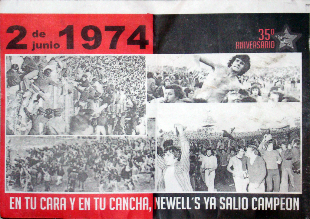 Festejos Aniversario Newell's campeón 1974 (fotos y video