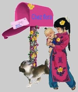 chez-flora-geisha-bebe-chien-fleur-créations-flora