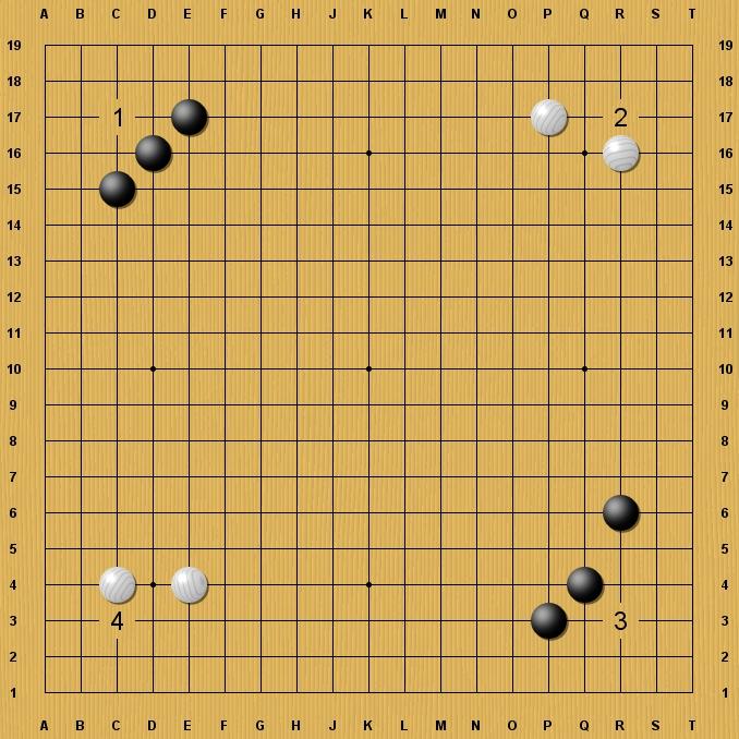 Débutant 30 kyu & + :  Le rôle des pierres de bord Coins-1194cc2