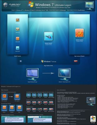 Windows 7 Logon Pack v1.1 For Windows XP