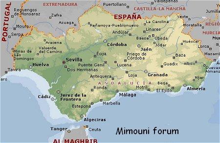 Naissance et mort du Royaume Amazigh Mimouni-carte-andaloussia-1315274